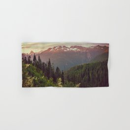 Mountain Sunset Bliss - Nature Photography Hand & Bath Towel