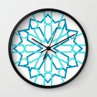 arabic Wall Clocks featuring Arabic Pattern by Soso Creation