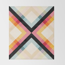 Retro Pattern 01 Throw Blanket