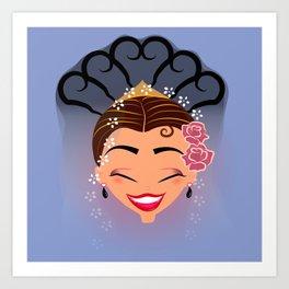 Tuti-Lady Flamenquerías/Character & Art Toy design for fun Art Print