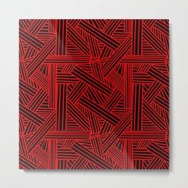 Sketchy Abstract (Red & Black Pattern) Metal Print
