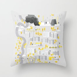 Welcome to Chernobyl Throw Pillow