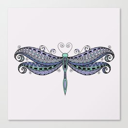Dragonfly dreams purple Canvas Print