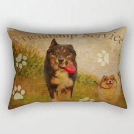 Friendship service Rectangular Pillow
