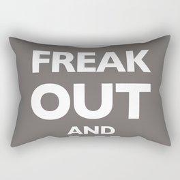 Keep Calm and Carry On Parody Brown Rectangular Pillow
