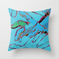 hands Throw Pillows featuring Hands by Neave Lifschits