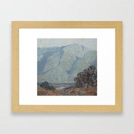 Little painting - Mount Kinabalu Framed Art Print