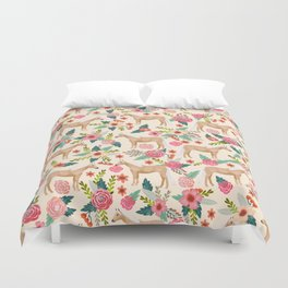 Palomino Horse floral farm nature animal horse lovers ponies florals Duvet Cover