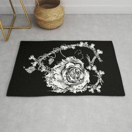 The End-Dead Love-Rose-Bones Rug