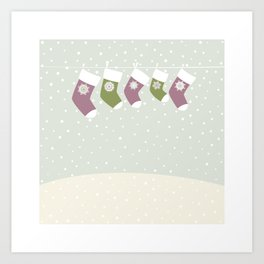 Christmas Socks Art Print