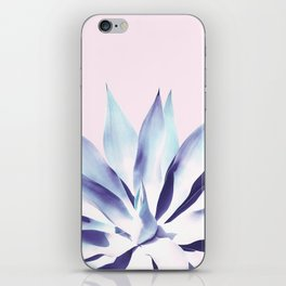 Solar Agave - Pastel blue on pink iPhone Skin