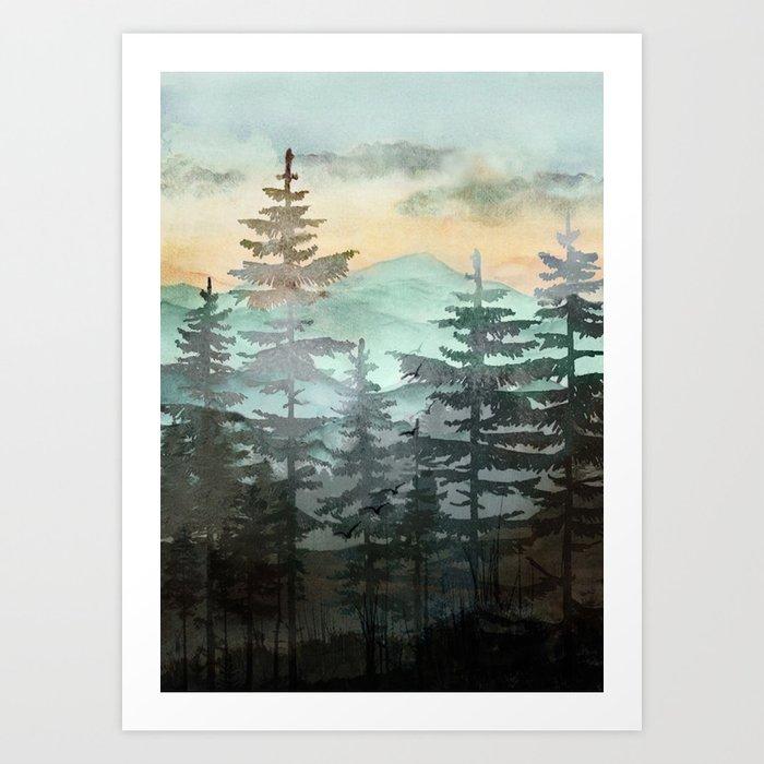 Pine Trees Kunstdrucke