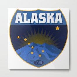 Alaska Badge Metal Print