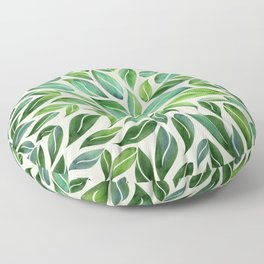 Spring Leaf Mandala Floor Pillow