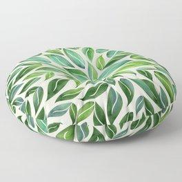 Spring Leaf Mandala Floor Pillow