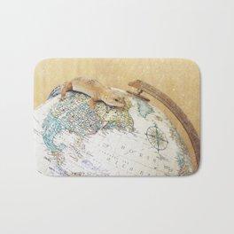 Globe-Trotting Gecko Bath Mat