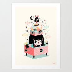 The sound of magic Art Print