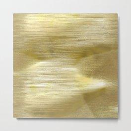 Gold metal texture Metal Print