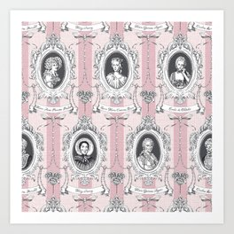Science Women Toile de Jouy - Pink Art Print