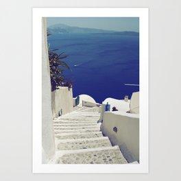 Santorini Stairs II Art Print