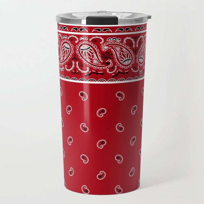 Classic Red Bandana Travel Mug