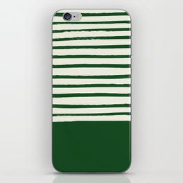 Holiday x Green Stripes iPhone Skin