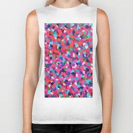 Pink Dreams Abstract Painting Biker Tank