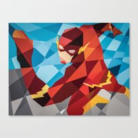 dc comics Canvas Prints featuring DC Comics Flash by Eric Dufresne