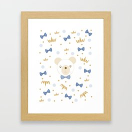 bear crown Framed Art Print