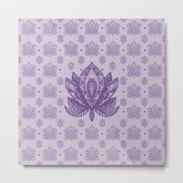 Gentle Pastel Purple  Lotus Flower Metal Print
