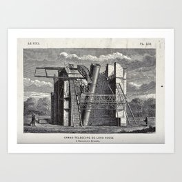 The Large Refracting Telescope at Birr Castle, Parsonstown, Ireland, belonging to Lord Rosse Art Print