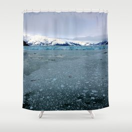 Alaska Hubbard Glacier Floating Blue Ice Shower Curtain