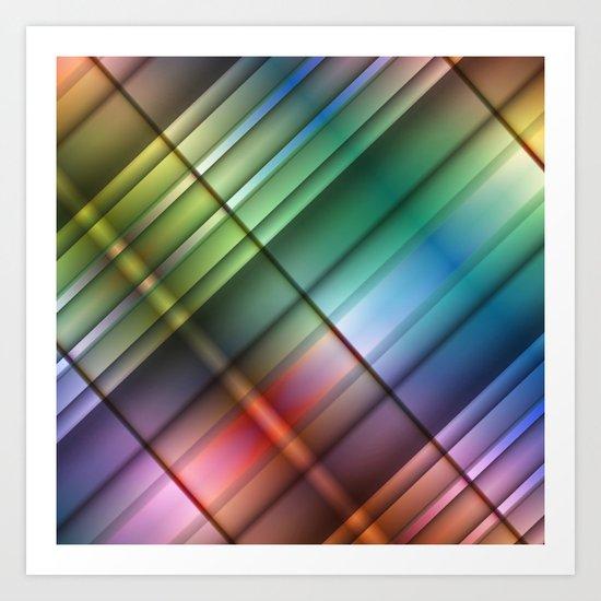 Colourblocking Art Print