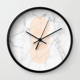 Marble Scandinavian Design Geometric Circle Wall Clock