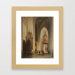 Belgian School (19th Century) Interior view of Namur Cathedral Framed Art Print