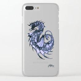 """Tsunami"" by Amber Marine ~ Sea Dragon (Amethyst Version) ~ Graphite Illustration, (Copyright 2005) Clear iPhone Case"