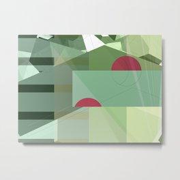 Geometric abstract green No. 1 Metal Print