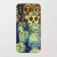 skulls iPhone & iPod Cases featuring skulls by Bunny Noir