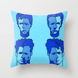 Where is my mind? Blue Throw Pillow