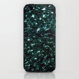 Sparkling Rain Teal iPhone Skin