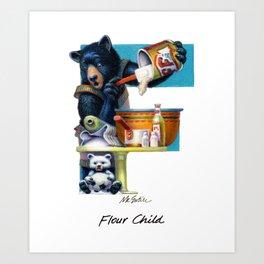 Flour Child Art Print