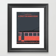 No397 My street car named desire minimal movie poster Framed Art Print