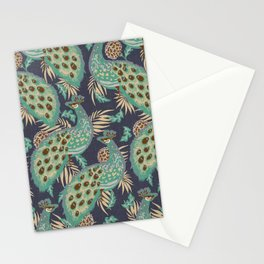 PALAIS PEACOCK LINEN Stationery Cards