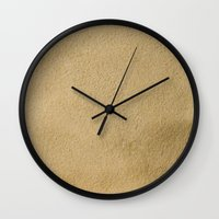 sand Wall Clocks featuring Sand by Patterns and Textures
