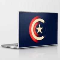 captain silva Laptop & iPad Skins featuring Captain by Ian Wilding