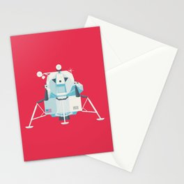 Apollo 11 Lunar Lander Module - Plain Crimson Stationery Cards