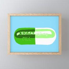 Crazy Pill Framed Mini Art Print