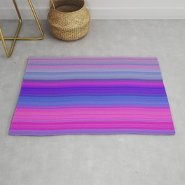 pink and violet horizontal lines Rug