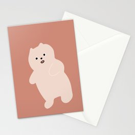 soft bear / warm tones Stationery Cards