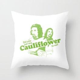 Cauliflower   Green Throw Pillow